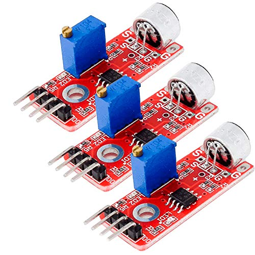 AZDelivery 3 x KY-037 High Sensitivity Sound Detection Big Microphone Module for Arduino including eBook