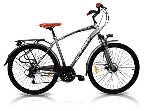 IBK Bicicletta Trekking 28' City Bike Uomo Telaio...