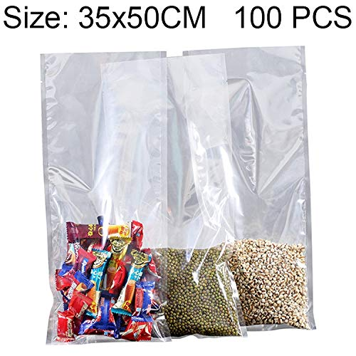 Best Buy! YBLSMSH 100 PCS Food Vacuum Packaging Transparent Plastic Bag Nylon Fresh-Keeping Bag, Siz...
