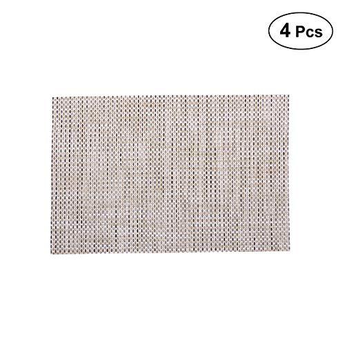 Vosarea Estante Lavable de 4 Piezas Mantel Aislante Mantas Resistentes al Calor de PVC manteles para Mesa de Comedor de Cocina (2015 fabricar, Ropa de Cama)