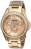 fossil orologio analogico quarzo donna con cinturino in acciaio inossidabile es2811