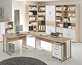 Arbeitszimmer Büro Komplettset OFFICE LINE 7-tlg. Sonoma/Weiß