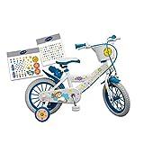 GUIZMAX Vélo Licorne 16 Pouces a Personnaliser 5 a 7 Ans Neuf