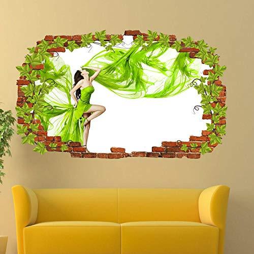 ioljk Pegatinas de Pared 3D Vestido de Mujer diseñador de Arte Mural Apliques decoración del hogar