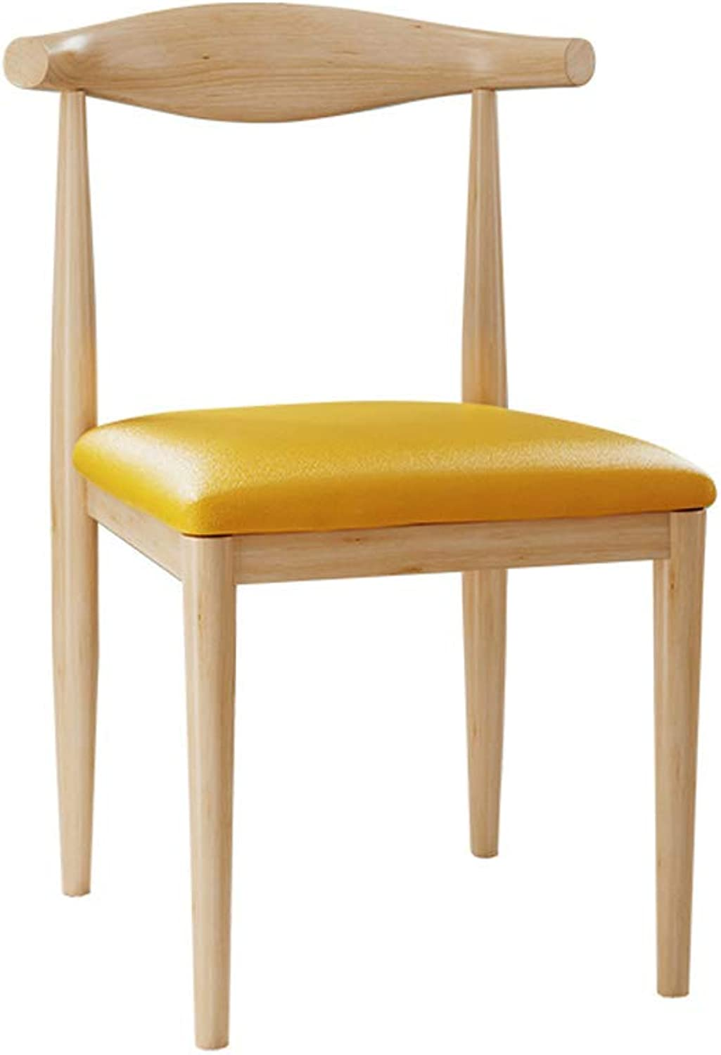 MXD Chair Creative Computer Chair Home Stool Chair Modern Minimalist Wrought Iron Dining Chair (color   Yellow)