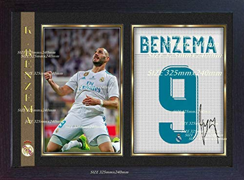 SGH SERVICES - Póster Enmarcado de Karim Benzema Real Madrid