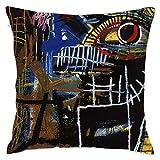 LongTrade Jean-Michel Basquiat P25 Fodera per Cuscino per Fodera per Cuscino Cuscino Quadrato Decorativo Moderno per Divano casa 18x18 Pollici