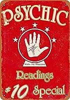 Psychic Readings ティンサイン ポスター ン サイン プレート ブリキ看板 ホーム バーために