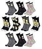 Disney Socks And Underwear Herren-Socken Simpsons aus Baumwolle, verschiedene Modelle mit Fotos je nach Verfügbarkeit, mehrfarbig Gr. 43/46, 10 Paar