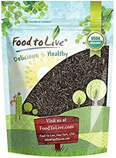 Organic Wild Rice — Raw, Long Black Whole Grain, Non-GMO, Kosher, Bulk (by Food to Live) — 2 Pounds