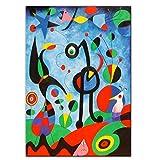 El jardín Joan Miro Famoso lienzo abstracto pintura carteles impresiones cuadro de arte de pared para sala de estar decoración del hogar Cuadros-60x80cm sin marco