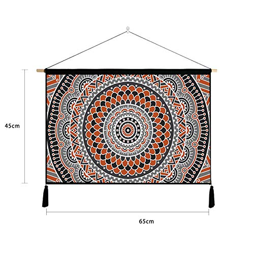 lsaiyy Geométrica Nacional Viento Pintura hogar Fondo Pared algodón Lino Tela Cama sofá Fondo Tela paño Pintura 7 65 * 45 cm