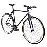 Golden Cycles Single Speed Fixed Gear Bike with Front & Rear Brakes (Howie, 55)