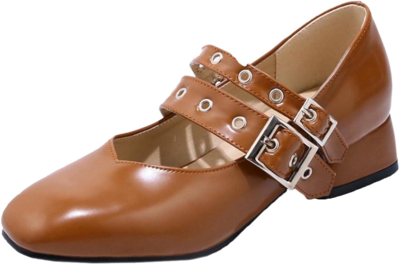 AicciAizzi Women Low Heel Mary Jane Pumps shoes