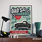 yiyitop Poster-Retro Vintage alte Poster Auto Tankstelle
