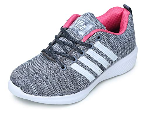 TRASE Relaxie Grey Pink Sports Shoes for Women - 5 UK