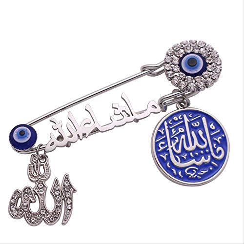 CLEARNICE Klassische Mode Islam Muslim Allah Mashallah In Arabisch Türkisch Evil Eye Brosche Baby Pin