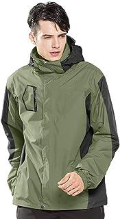 LUOLUO Men's Mountain Jackets Waterproof Rain Jacket Lightweight Windproof Shells Thin Jacket