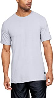 Under Armour Men's UA Baseline Ss Long Line T-Shirt, Grey (Mod Grey Light Heather/Mod Grey/Black), Medium