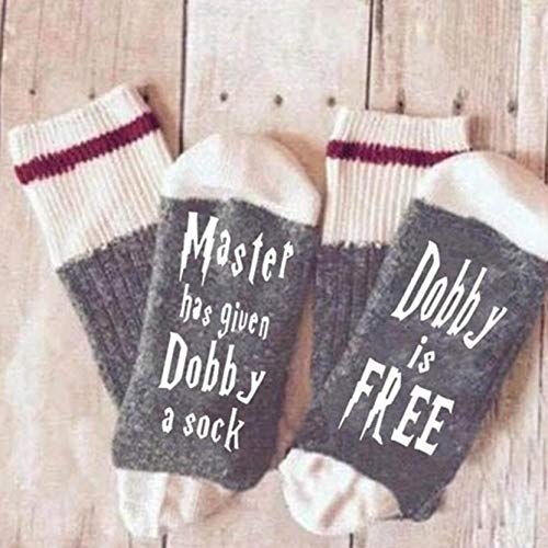 Amelia Isaiah Simple 1 Paar Unisex-Socken Master Has Given Dobby A Sock Dobby Is Free Lustige Socken, weiche Baumwolle Casual Print Brief Socken für Frauen (11)