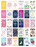 lots of colorful cards with script font inspirational quotes on them