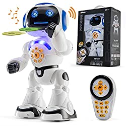 in budget affordable Top Race Remote Control Robot Toy Walking Talk Children's Dance Toy Robot, Sing, Read …