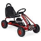 HONEY JOY Go Kart for Kids, 4 Wheel Pedal Powered Go Cart with...