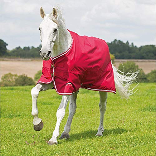 Shires Tempest Pferdedecke, 100 g, Rot, rot, 78