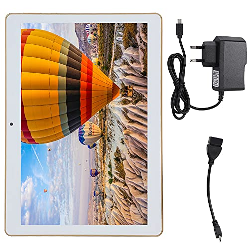 Sliver Kids Tablet 800 x 1280 HD Tablet Tabletas Android 10.1 Pulgadas 4GB Memoria 64GB Almacenamiento 4000mah Batería de litio Dual SIM Android 8.1 Soporte WiFi, Bluetooth, GPS(Enchufe de la UE)