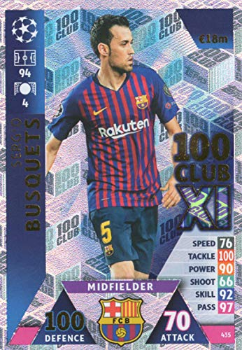 Match Attax Champions League 18/19 sergiobüschel 100 Club Trading-Kaart - FC Barcelona 18/19