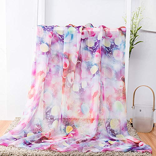 Kleur chiffon stof, zomer zachte gedrapeerde stof, jurk sjaals DIY stof-Fuchsia