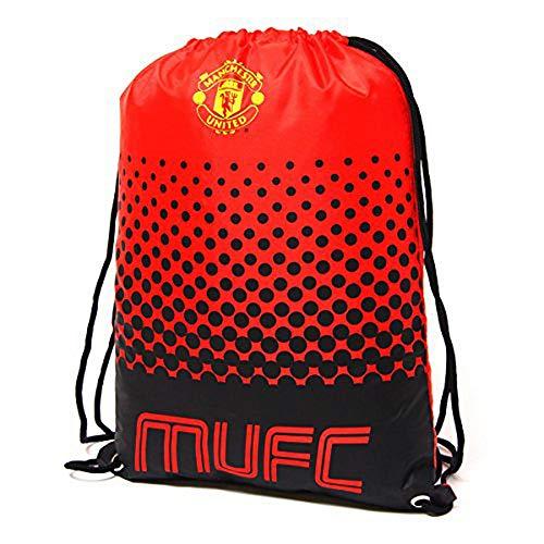 Manchester United MUFC Children's Unisex Drawstring Bag, Red