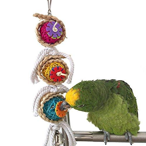 Keersi Juguete para picar para pájaros, ideal para loros, guacamayos africanos, periquitos...