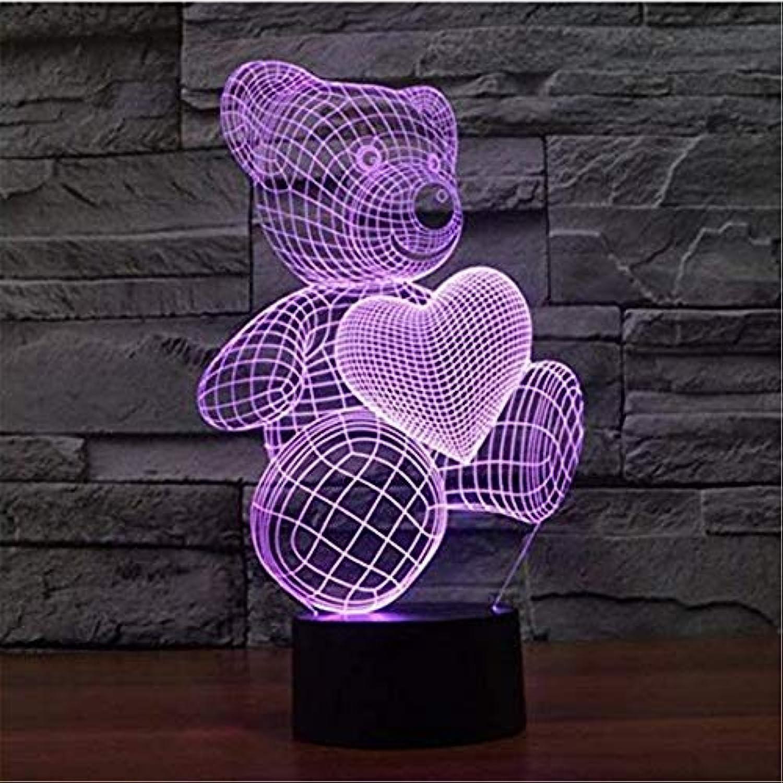 Led-leuchten Edison Lichter Cartoon Niedliche Herz Br Form Acryl Led Lampe Nachtlicht 3D Baby