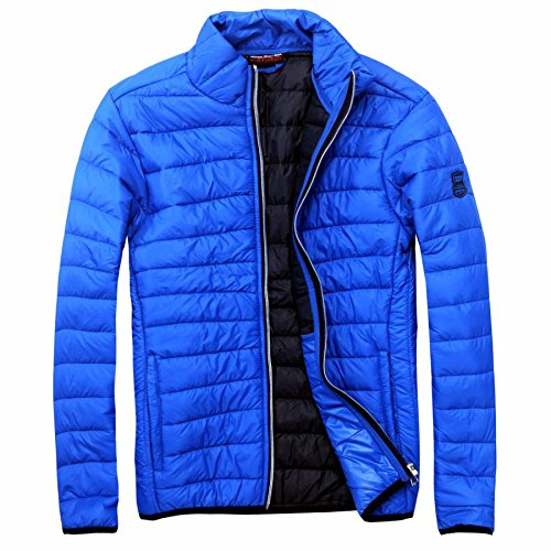 EXUMA Herren Sportbekleidung Aufgeblasen Jacke, Royal Blue, M
