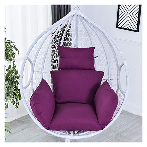 Rowe Chair Seat Pad Hanging Basket Chair Cushion Swing Seat Removable Thicken Egg Hammock Cradle Cushion Outdoor Back Cushion for Office Chair Lumbar Support Back Pillow (Color : Purple)