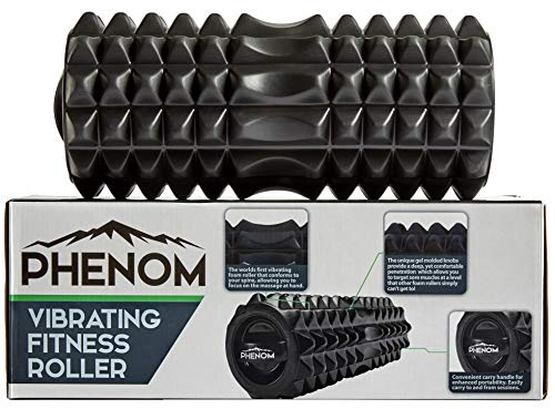 Monument Phenom 3 Speed Vibrating Foam Roller - Myofascial Recovery   Release Tension, Stiff Sore Muscles; Enhance Mobility, Performance, and Pliability Training Deep Tissue Massage (Black)