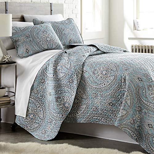 Pure Melody Collection, Premium Quality, Soft, Wrinkle, Fade, & Stain Resistant, Easy Case, Oversized Quilt Cover Set with 1 Quilt Set and 2 Shams, King / California King, Aqua