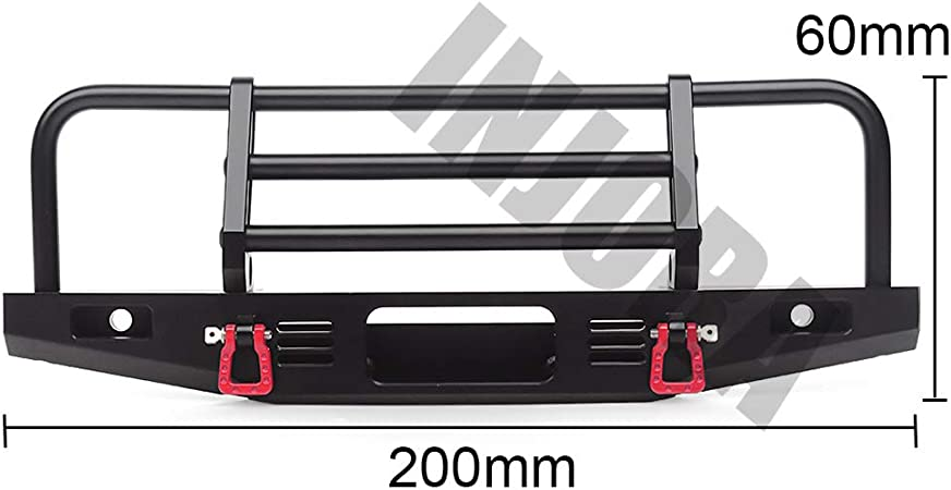 Adjustable Metal Front Bumper for 1//10 RC Traxxas TRX4 Axial SCX10 /& SCX10 90046