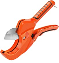 AIRAJ Reatcheting PVC Tube Cutter for Cutting PVC, PEX, PPR Rubber Hose and Plumbing Pipe Up to 2-1/2 in. Ideal Pipe Cutter for Home Working and Plumbers