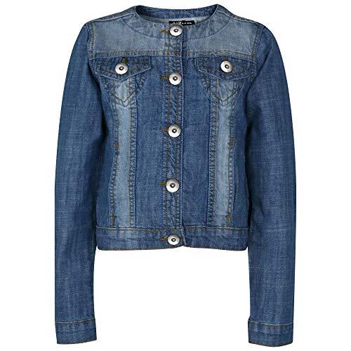 A2Z 4 Kids® Kinderen Meisjes Jassen Stijlvol Denim Ontwerper Modieus - Girls Denim Jacket Light Blue 3-4