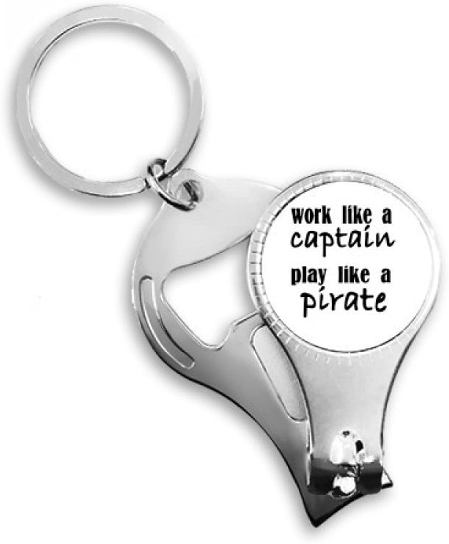 MmingS HOME Arbeit wie wie wie Kapitän spielen wie Piraten Schlüsselanhänger Ring Toe Nagelknipser Cutter Scissor Tool Kit Flaschenöffner Geschenk B07P5L78JM   | Export  86bf52