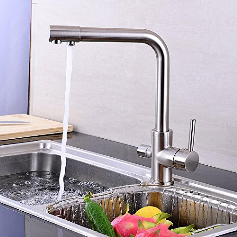 Küchenarmatur Wasserhahn Dual-Spülbrause Küchenarmatur Hersteller Liefern Drei Mit Reinem Wasser Küchenarmatur Modernen Minimalistischen Single-Link-Grohandel Schwammverpackung Mit Wasserzulauf