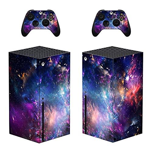 AXDNH Fundas De Vinilo Starry Sky Universestom para Xbox Series X, Pegatinas De Cubierta De Calcomanías para El Controlador De Consola Xbox Series X, Juegos Y Accesorios,0381