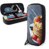 Strawberry Blueberry Melaleuca Cake Leather Pencil Case Pouch Zippered Pen Box School Supply for...