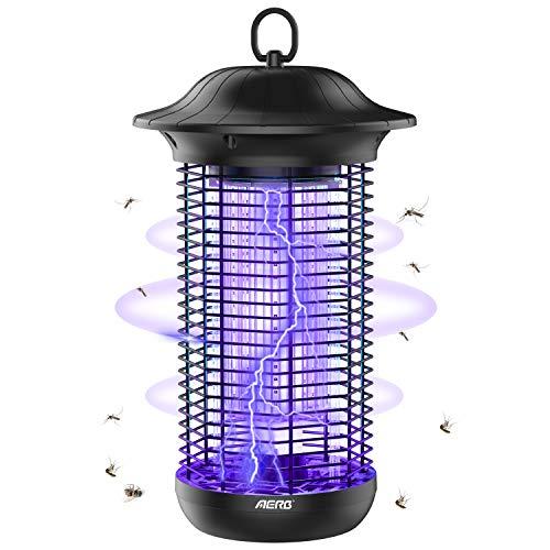 Aerb Lámpara Antimosquitos Eléctrico UV 18W, LED Mosquito Lámpara Trampa, 4000V Potencia de Alto Voltaje, Matar Mosquitos, Moscas, Polillas, para hogar
