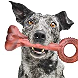 Large Dog Chew Toys with a Ring Handle to Play Tug War Game, Heavy Duty Dog Toy for Large Medium Dogs, Nylon Tough Dog Toys for Chewing Teething and Playing