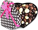 Gourmet Valentines Chocolates Heart Box Chocolate Bridge Mix by It's Delish – Great Mothers Day Gift - New Year Events Fathers Mother Day Family Parties Valentines Anniversary - Kosher Dairy