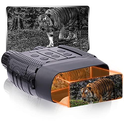 Binocolo Visione Notturna Infrarossi 300M(IR) Professionali Caccia Foto&Videocamera Digitale 4x30 Grigio