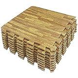 Amazon Brand - Umi -1 'x 1' (30 cm x 30 cm) Alfombrillas de Madera entrelazadas con Grano de Madera de (9 piezas-9 pies cuadrados) (Ligero)